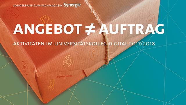 """Cover des Sonderbandes Synergie """"Angebot ungleich Auftrag"""""""