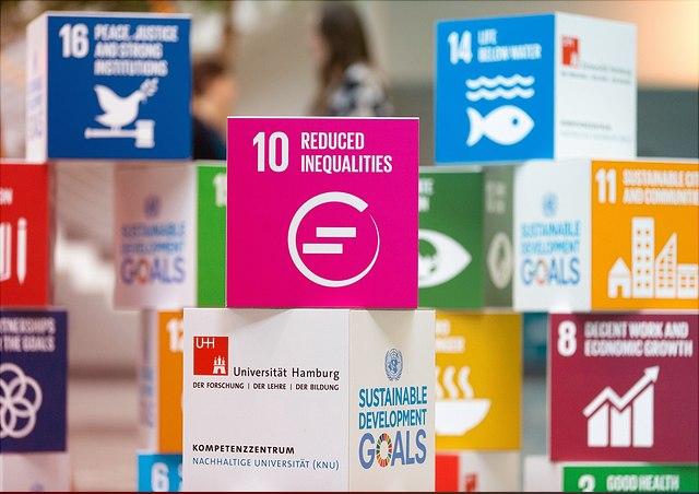 SDG-Würfel mit der Nummer 10