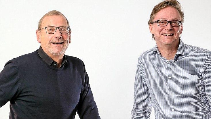 Prof. Dr. Sighard Neckel (l.) (Gesellschaftsanalyse und sozialer Wandel) und Prof. Dr. Jochen Bung (Strafrecht und Rechtsphilosophie)