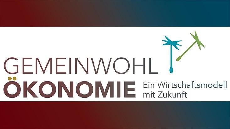 Das Logo der Gemeinwohlökonomie ist zu sehen.