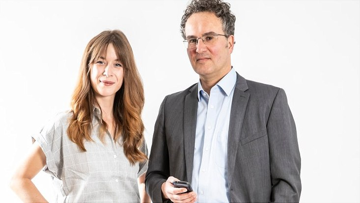Soziologin Luise Heinz und Prof. Dr. Peer Briken, Direktor des Instituts und Poliklinik Sexualforschung und Forensische Psychiatrie am UKE
