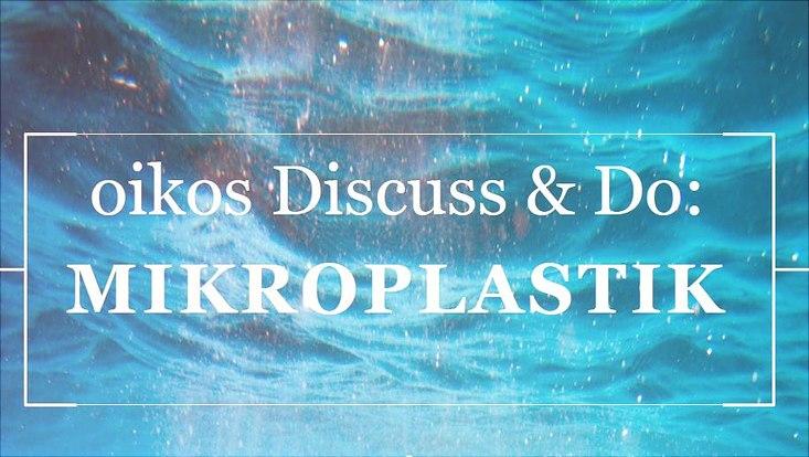 Veranstaltungsankündigung zu oikos discuss and do vor blauem Hintergrund