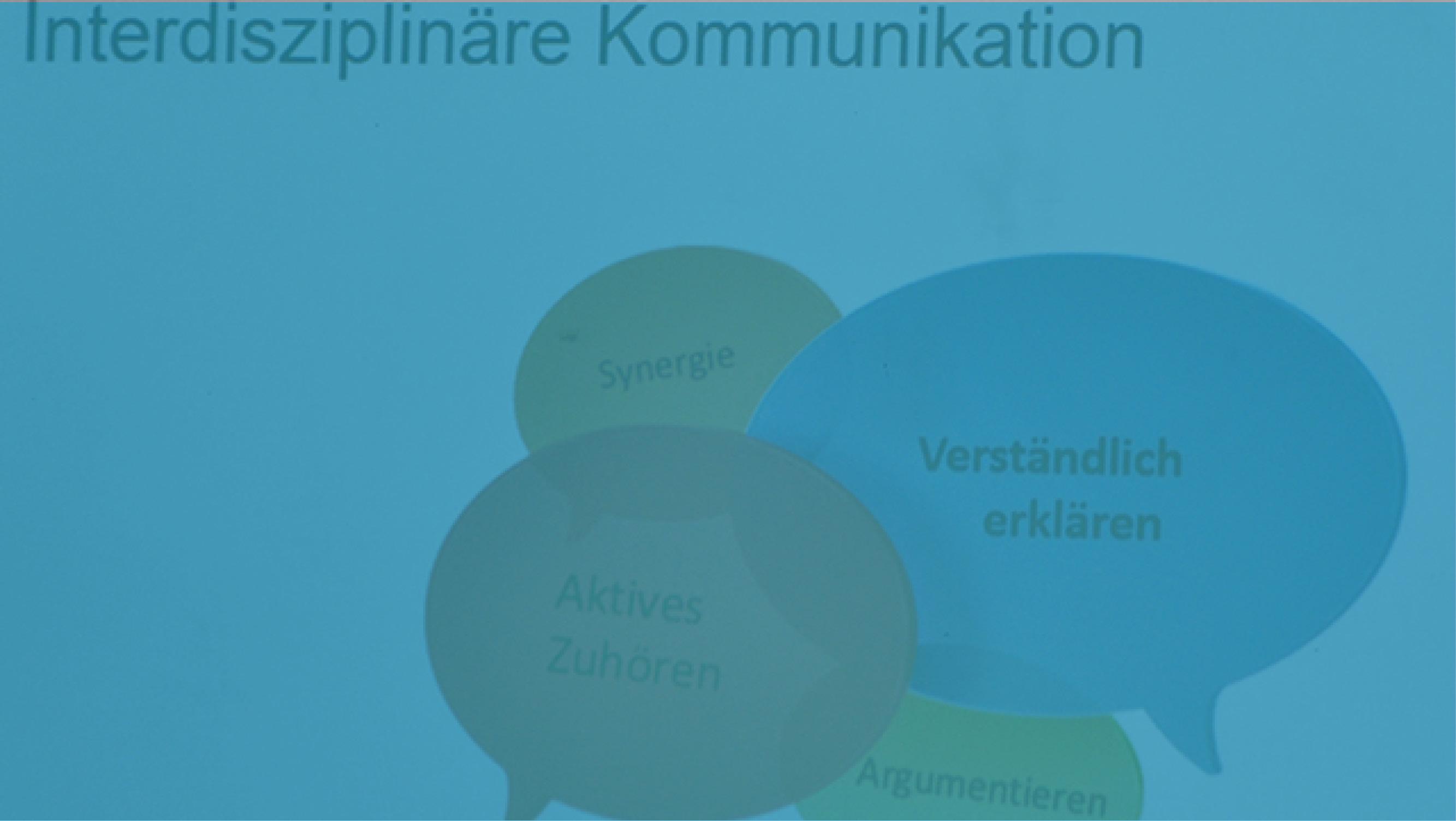 Ausschnitt aus Präsentation zum Thema Interdisziplinäre Kommunikation