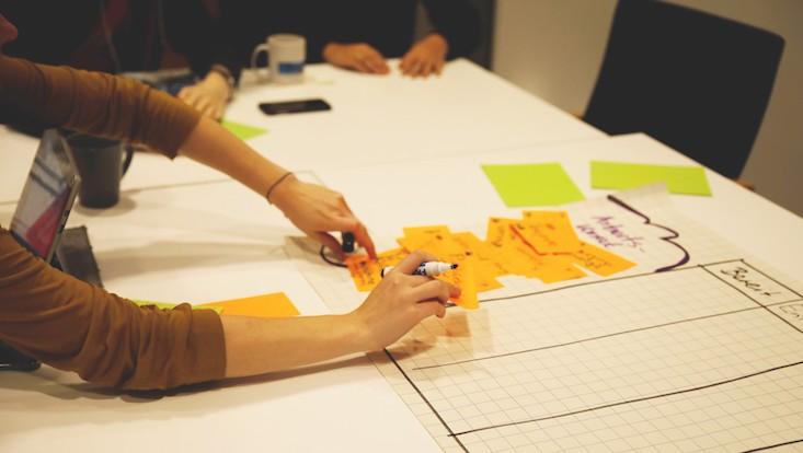 Studierende des Universitätskollegs erarbeiten ein Kanban-Board