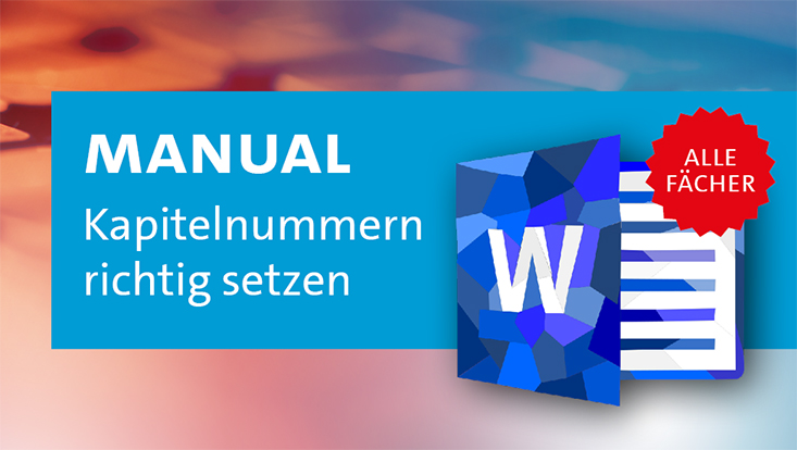 Kapitelnummerierung in Word