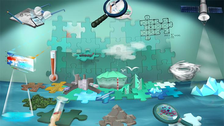 Grafik mit vielen Elementen zur Messung des Klimawandels
