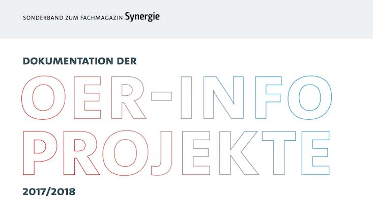 Ausschnitt Cover Sonderband Synergie OERinfo-Projekte 2017/2018