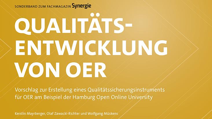 """Cover des Sonderbandes Synergie """"Qualitätsentwicklung von OER"""""""