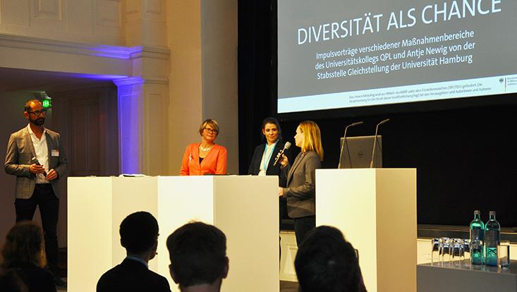 Paneldiskussion zu Diversität als Chance auf Jahrestagung des Universitätskollegs QPL