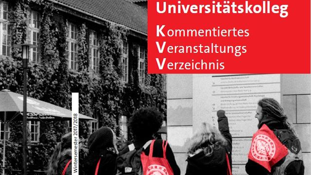 Cover des Kommentierten Veranstaltungsverzeichnisses des Universitätskollegs Wintersemester 2017/18