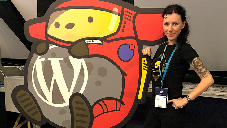 Toni Gunner beim WordCamp Europe 2018