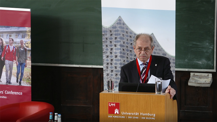 Prof. Dr. Antonio Loprieno, President of the European Federation of Academies of Sciences and Humanities, gives a speech