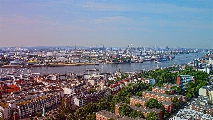 Skyline Hamburger Hafen