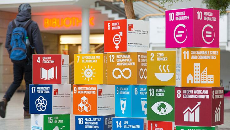 Cover-Bild des Kolleg-Boten 092: Würfel mit SDGs