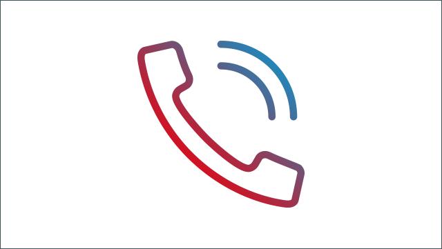 Das Icon zeigt einen Telefonhörer.