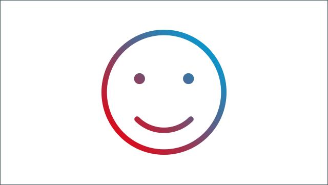 Das Icon zeigt einen lächelnden Smiley.