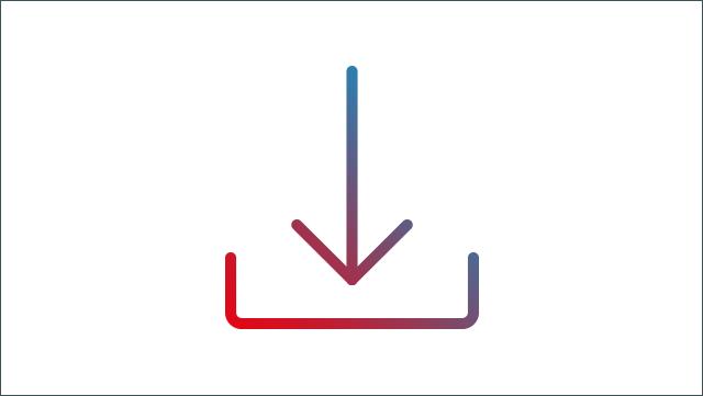 Das Icon zeigt ein Download-Zeichen.