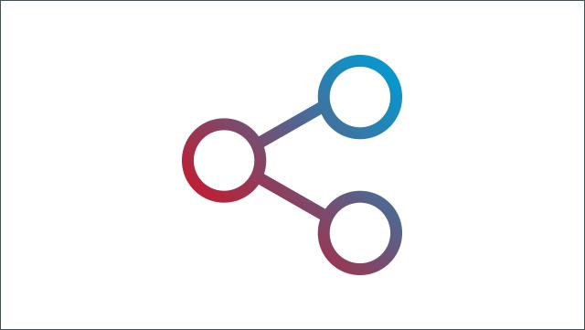 Das Icon zeigt ein Symbol für Teilen.