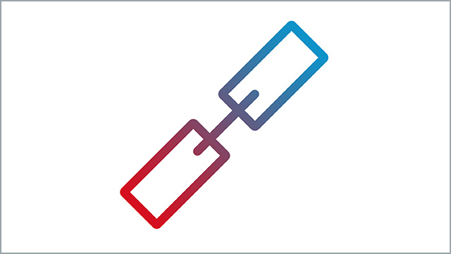 Das Icon zeigt ein Link-Symbol