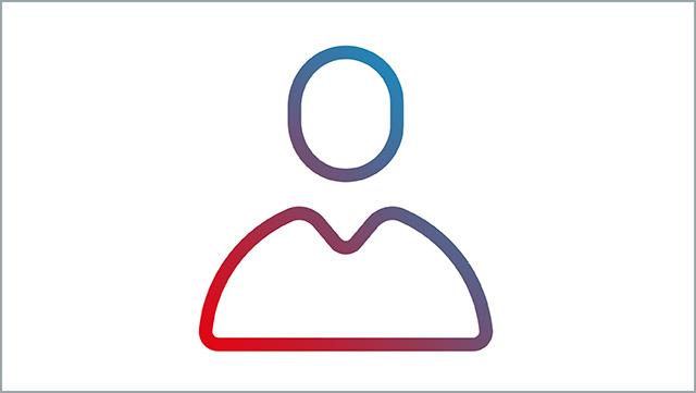 Das Icon zeigt eine Person als Symbol.