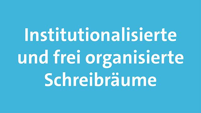 Das Bild zeigt die Begriffe institutionalisiert - frei organisiert