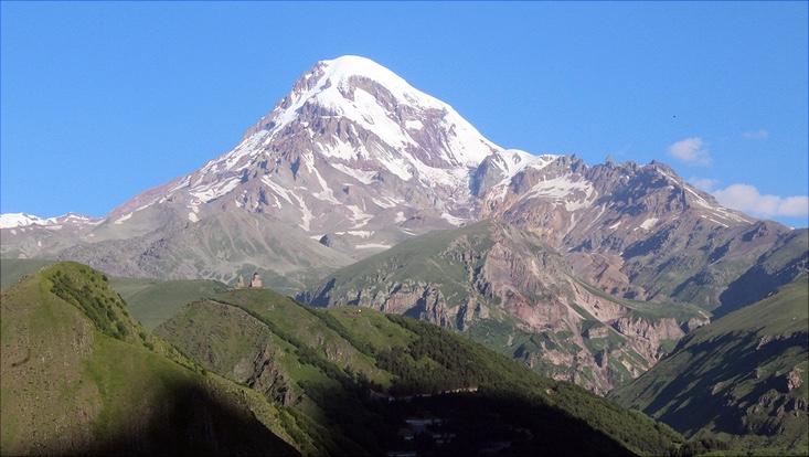 Bergpanorama beim Bioblitz in Georgien