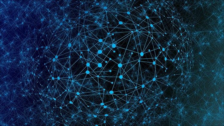 Illustration Erde mit Netzwerkverknüpfungen