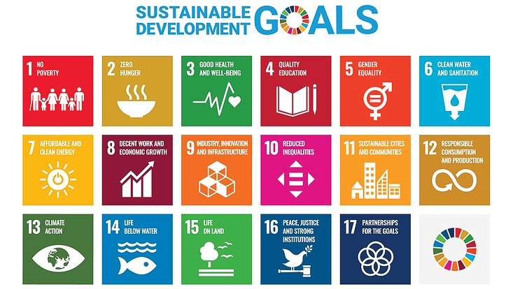 Graphic of the 17 sdgs