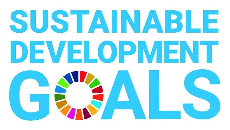 Das Logo der Sustainablie Development Goals der UN.