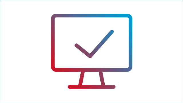 Das Bild zeigt einen Icon für einen Monitor