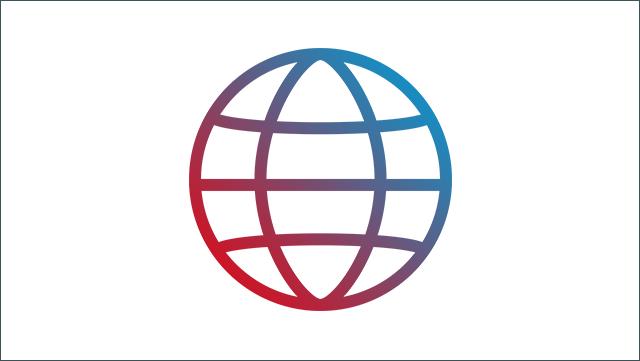 Das Bild zeigt ein Icon für ein globales Netz