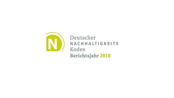 Das DNK-Logo: Deutscher Nachhaltigkeitskodex - Berichtsjahr 2018