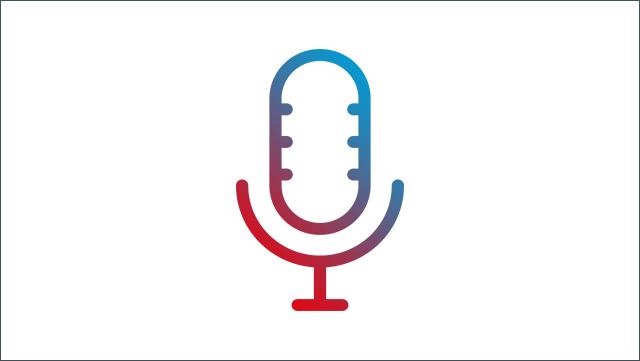Das Bild zeigt ein Icon für ein Mikrofon