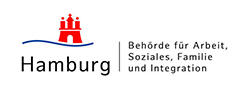 Logo der Behörde für Arbeit, Soziales, Familie und Integration Hamburg