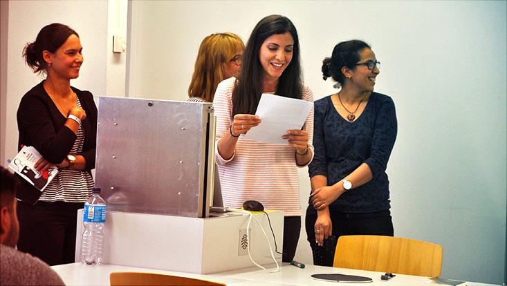Das Bild zeigt Studentinnen aus dem Romanistik-Seminar Le Liban.