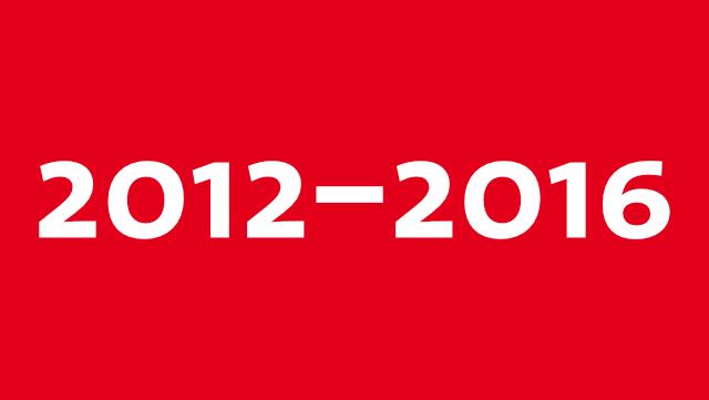 Grafik mit Schrift 2012 bis 2016